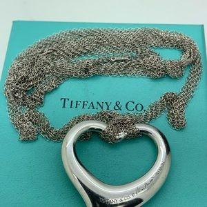 Tiffany & Co925 Large Heart Peretti Mash Necklace